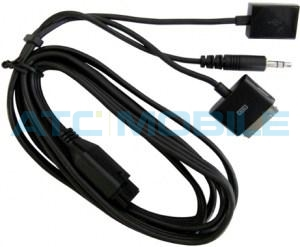 Audio kabel (USB, 3,5mm, iPhone konektor) k Parrot MKi 9000, 9100, 9200